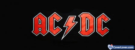 AC DC Black Background Facebook Covers