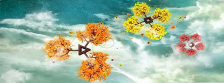 Abstract Artistic Colorful Trees   Facebook Covers