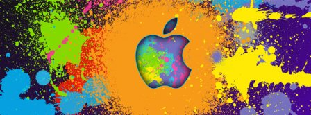 Abstract Artistic Colourful Apple  Facebook Covers