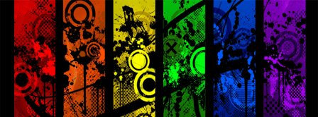 Abstract Artistic Colours Palette  Facebook Covers