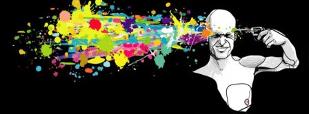 Abstract Artistic Suicide Facebook Covers