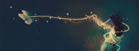Abstract Artistic Dove  Facebook Covers