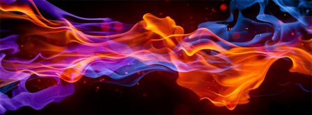 Abstract Artistic Fire  Facebook Covers