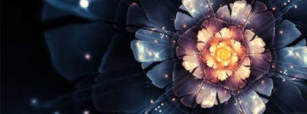 Abstract Artistic Flower 8  Facebook Covers