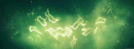 Abstract Artistic Green Light  Facebook Covers