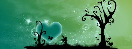Abstract Artistic Green World  Facebook Covers