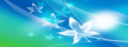 Abstract Artistic Leaves  Facebook Covers
