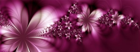 Abstract Artistic Pink Flowers Facebook Covers