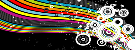 Abstract Artistic Rainbow Facebook Covers