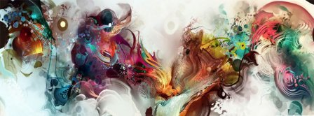 Abstract Artistic Space  Facebook Covers