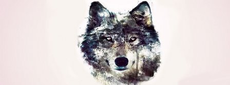 Abstract Artistic Wolf Facebook Covers