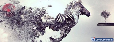 Abstract Artistic Zebra   Facebook Covers