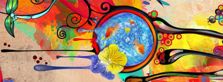 Abstract Artistic Colors  Facebook Covers