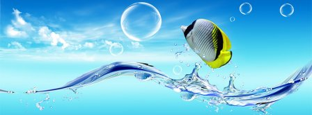 Abstract Artistic Fish Dreamy  Facebook Covers
