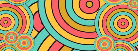 Abstract Colorful Circles Facebook Covers
