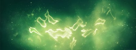 Abstract Green Aurora Facebook Covers