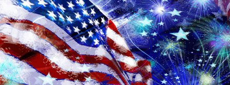 American Flag Fireworks Facebook Covers