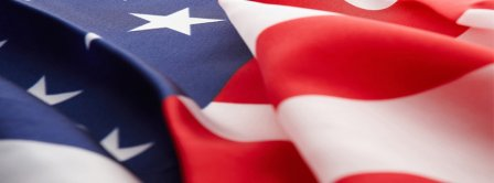American Flag Floating Facebook Covers