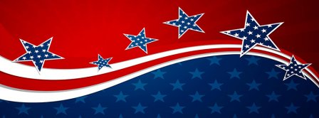 American Flag Stars Facebook Covers