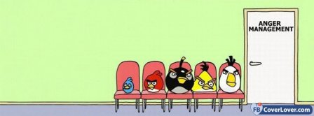 Angry Birds Anger Management  Facebook Covers