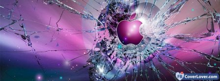 Apple Cracked Screen Facebook Covers