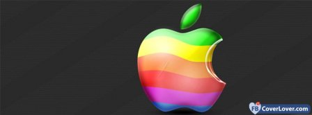 Apple Colorful Logo  Facebook Covers