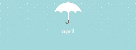April Umbrella Rain Facebook Covers