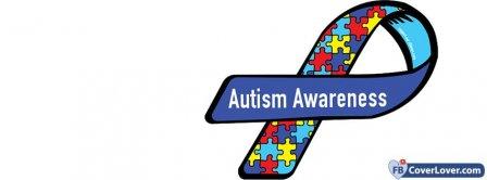 Autism Awareness Ribbon  Facebook Covers