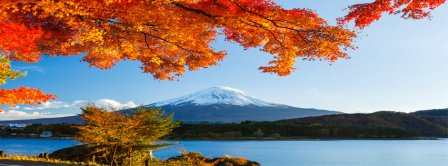 Autumn Mount Fuji 2 Facebook Covers