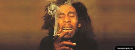 Bob Marley Smoking Facebook Covers
