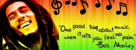 Bob Marley Music Feels No Pain Facebook Covers