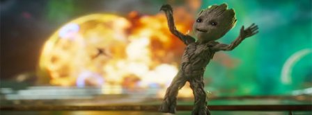 Baby Groot Dancing Facebook Covers