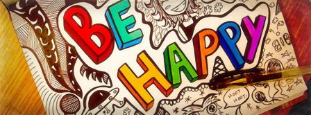Be Happy And Smile Facebook Covers