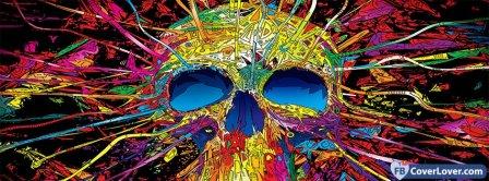 Beautiful Colorful Skull  Facebook Covers