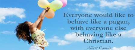 Behaving Like A Christian Albert Camus Quote Facebook Covers