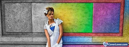 Black And White And Colorful Girl 2  Facebook Covers