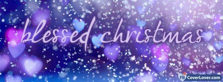 Blessed Christmas  Facebook Covers