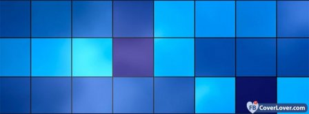 Blue Squares A8   Facebook Covers
