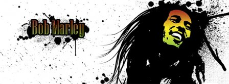 Bob Marley Splatter Facebook Covers