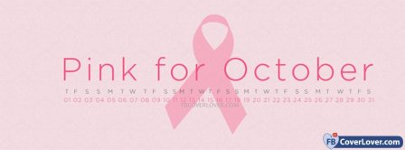 Breast Cancer Awareness Pink For October Facebook Covers
