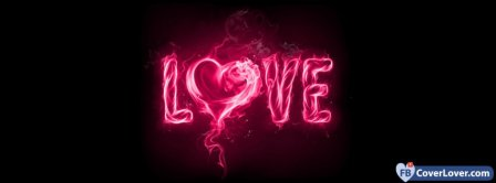 Burning Love Hearts  Facebook Covers