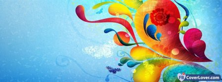 Butterfly Colors Design Facebook Covers