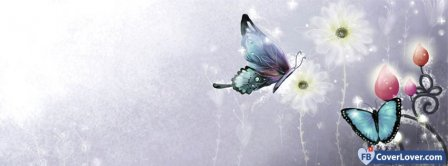 Butterfly Girly Colorful 2  Facebook Covers