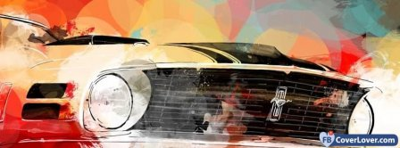 Mustang Car Art Facebook Covers