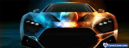 Colorful Car Monster Facebook Covers