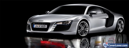 Grey Audi R8  Facebook Covers