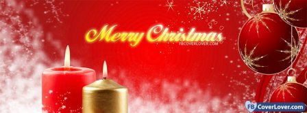 Merry Christmas Candles  Facebook Covers