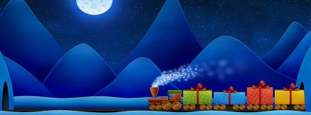 Christmas Gifts Train Facebook Covers