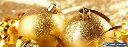 Christmas Golden Decoration  Facebook Covers
