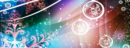 Abstract Christmas Ornaments  Facebook Covers